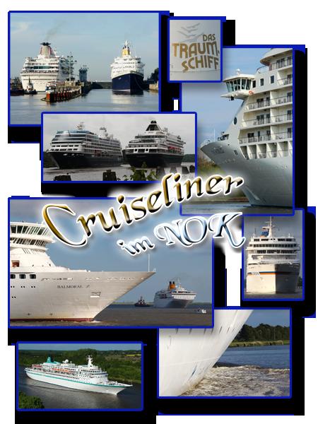 Cruiseliner im Kiel Canal